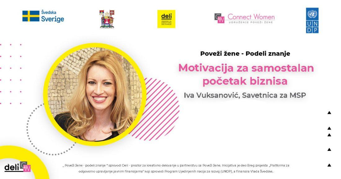 Iva Vuksanović, savetnica za MSP