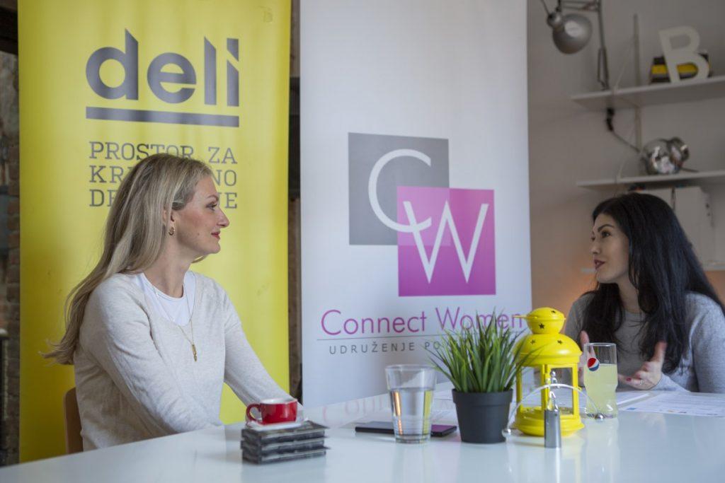 Poslovni razgovor dve žene