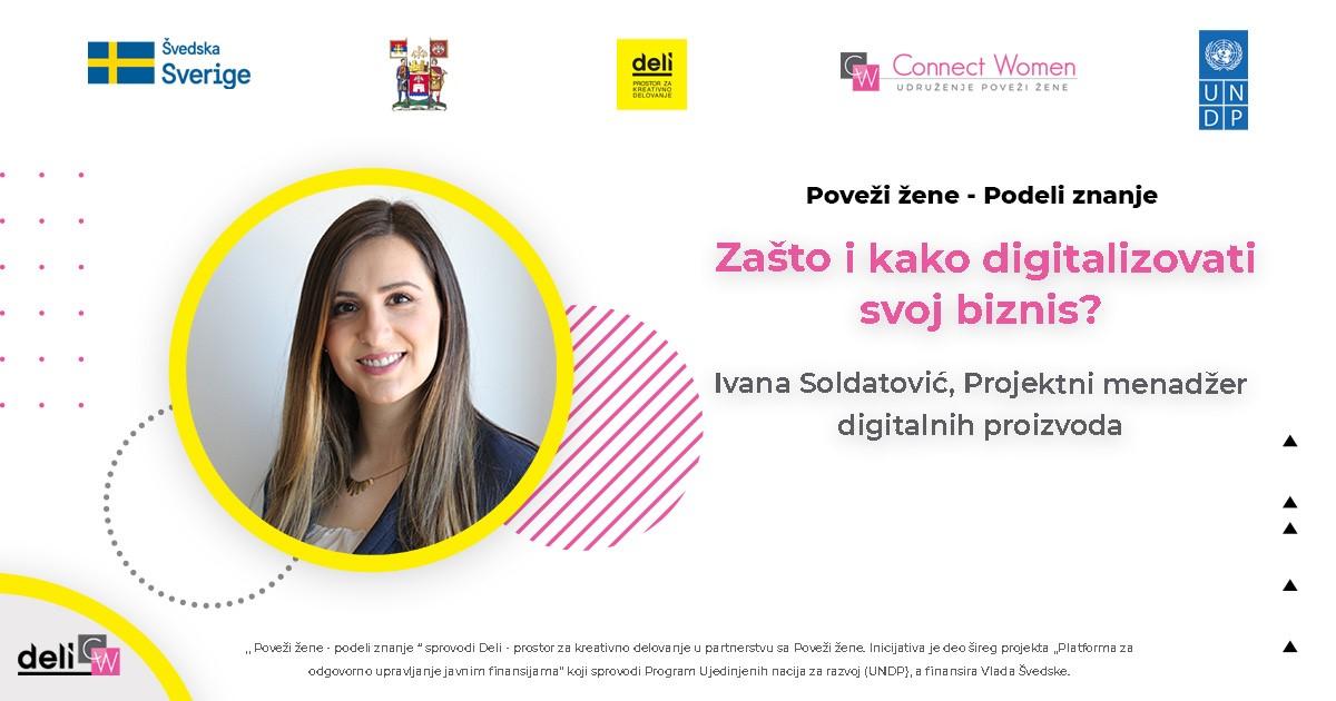 Ivana Soldatović, projekt menadžer